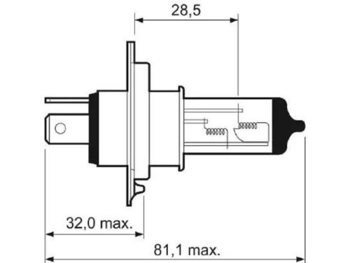 LAMPADA VALEO 12V H4 60/55W