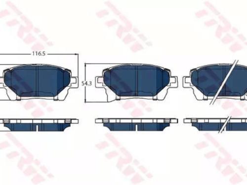 Pastiglia Freno Electric BlueAnterioreTOYOTA PRIUS Hatchback (_W2_)