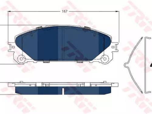 Pastiglia Freno Electric BlueAnterioreLEXUS RX (_L1_)
